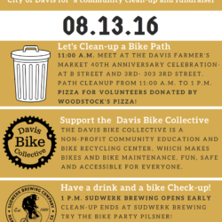 Beauty, bike, and brew event flyer