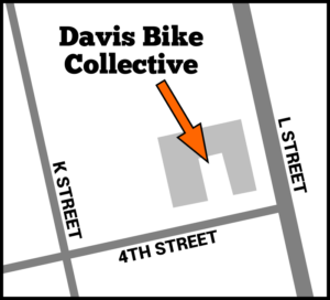 Map of Davis Bike Collective location